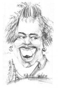 Karikatuur Marion